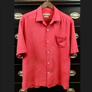 🎃Tommy Bahama 100% Silk Casual Button Front Shirt